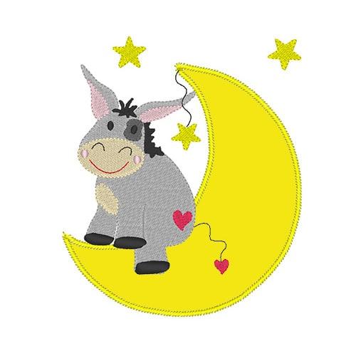 Esel auf Mond